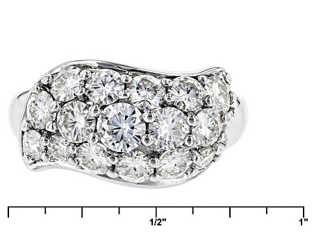 Pre-Owned Moissanite Platineve Ring 2.09ctw D.E.W