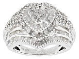 Pre-Owned Diamond Sterling Silver Ring 1.80ctw