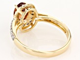 Pre-Owned Orange Malaya Garnet 10k Yellow Gold Ring 1.11ctw