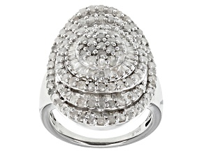 Pre-Owned Diamond Sterling Silver Ring 2.50ctw
