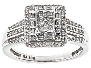 Pre-Owned Diamond 10k White Gold Ring .40ctw