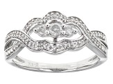 Pre-Owned Diamond Rhodium Over Sterling Silver Ring .25ctw