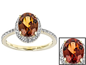 Pre-Owned Red Color Shift Garnet 10k Yellow Gold Ring 2.10ctw