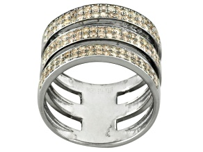 Pre-Owned Champagne Diamond Black Tone Ring .91ctw
