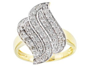 Pre-Owned Diamond 10k Yellow Gold Ring .90ctw
