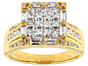 Pre-Owned Womens Square Ring Bella Luce White Cubic Zirconia 2ctw 18k Gold Over Silver