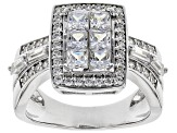 Pre-Owned White Cubic Zirconia Rhodium Over Sterling Silver Ring 2.73CTW
