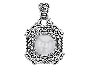 Pre-Owned Pearl Mabe Silver Pendant
