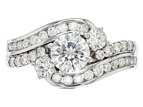 Pre-Owned Moissanite Platineve Ring 1.66ctw D.E.W
