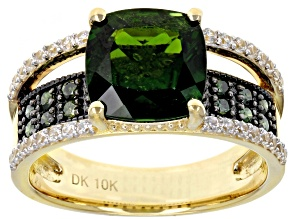 Pre-Owned Green Russian Chrome Diopside 10k Yellow Gold Ring 3.44ctw