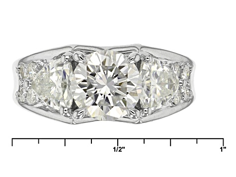 Pre-Owned Moissanite Platineve Ring 4.02ctw D.E.W