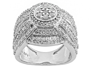 Pre-Owned Diamond Silver Ring 1.5ctw