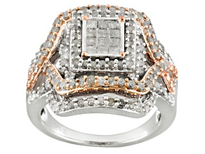Pre-Owned Diamond Two Tone Ring 1.50ctw
