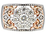 Pre-Owned Moissanite Platineve And 14k Rose Gold Over Platineve Ring 1.57ctw D.E.W