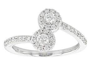 Pre-Owned Diamond 10k White Gold Ring .47ctw