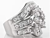 Pre-Owned Cubic Zirconia Silver Ring 7.06ctw (3.60ctw DEW)