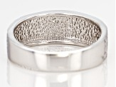 Pre-Owned Sterling Silver Diamond Cut Graduated Band Ring