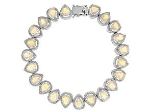 Pre-Owned Ethiopian Opal Sterling Silver Bracelet 9.20ctw