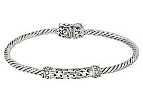 Pre-Owned Sterling Silver Cable Bracelet