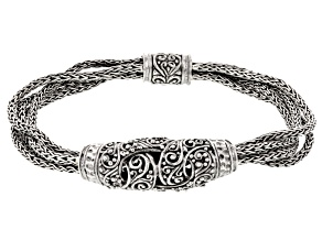 Pre-Owned Sterling Silver Knot Bracelet