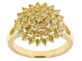 Pre-Owned Yellow Diamond 10k Yellow Gold Ring 1.18ctw
