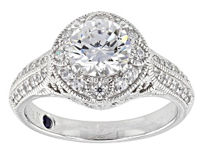 Pre-Owned Cubic Zirconia Platineve Ring 2.67ctw (1.68ctw DEW)