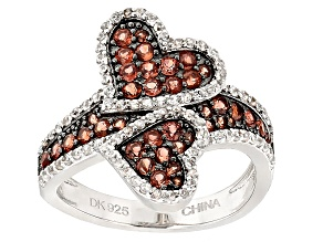 Pre-Owned Red Garnet Sterling Silver Ring 1.88ctw