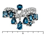 Pre-Owned London Blue Topaz Sterling Silver Ring 2.50ctw