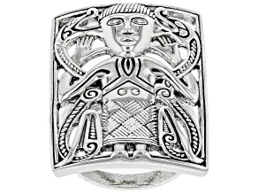 Pre-Owned Viking Man Sterling Silver Ring