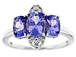 Pre-Owned Blue tanzanite 10k White Gold Ring 1.94ctw