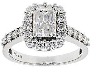 Pre-Owned Moissanite Platineve Ring 1.86ctw D.E.W