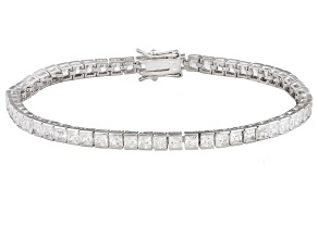 Pre-Owned White Cubic Zirconia Rhodium Over Sterling Silver Bracelet 13.00ctw