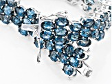Pre-Owned London Blue Topaz Sterling Silver Bracelet 40.80ctw