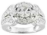 Pre-Owned White Mexican Danburite And White Zircon Sterling Silver Ring 1.99ctw