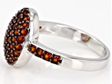 Pre-Owned red garnet sterling silver ring 1.15ctw