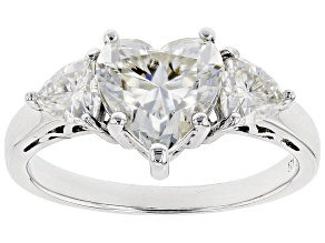 Pre-Owned Moissanite Platineve Ring 2.40ctw DEW.
