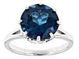 Pre-Owned London Blue Topaz Sterling Silver Ring 5.30ctw