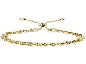 Pre-Owned 10k Yellow Gold Adjustable Rosetta Bracelet