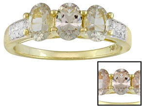 Pre-Owned Color Change Zultanite® 14k Yellow Gold Ring 1.29ctw