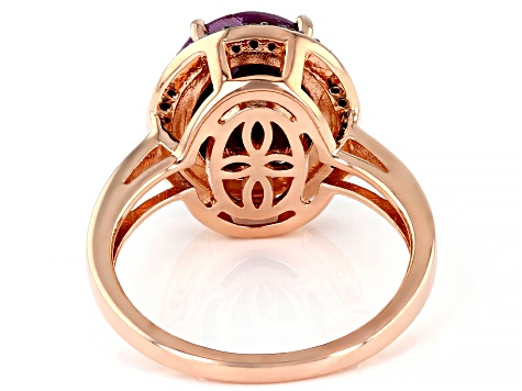 Pre-Owned Red Ruby 18k Rose Gold Over Silver Ring 4.73ctw