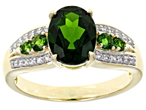 Pre-Owned Green Chrome Diopside 10k Yellow Gold Ring 2.01ctw.
