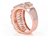 Pre-Owned White Cubic Zirconia 18K Rose Gold Over Sterling Silver Cluster Ring 3.59ctw