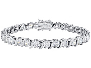 Pre-Owned Cubic Zirconia Silver Bracelet 14.75ctw