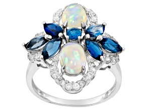 Pre-Owned Ethiopian Opal Sterling Silver Ring 3.06ctw