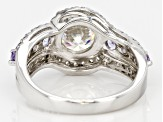 Pre-Owned Fabulite Strontium Titanate Sterling Silver Ring 3.36ctw