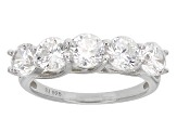 Pre-Owned Cubic Zirconia Silver Ring 4.75ctw (2.30ctw DEW)