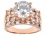 Pre-Owned Cubic Zirconia 18k Rose Gold Over Sterling Silver Ring 8.48ctw