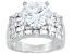 Pre-Owned Womens Stunning Cocktail Ring Bella Luce White Cubic Zirconia Sterling Silver