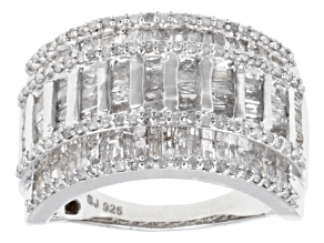 Pre-Owned Diamonds Sterling Silver Band 1.40ctw