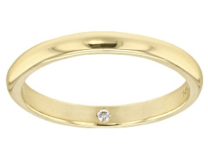 Pre-Owned Moissanite 14k Yellow Gold Band .02ct DEW